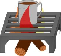 Campfire for the barbecue clipart