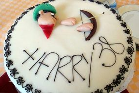 cake with the words harry 38