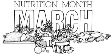 nutrition month march clip art vector drawing
