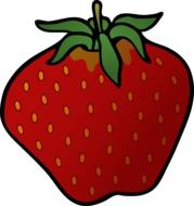 extremely delicious strawberry fruit drawing