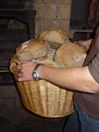 delicious breads in a basket