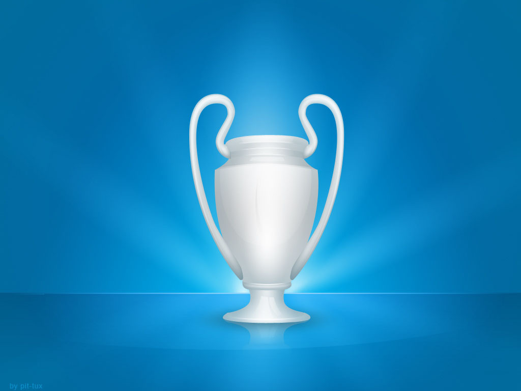 uefa champions league trophy on the blue background free image uefa champions league trophy on the blue background free image