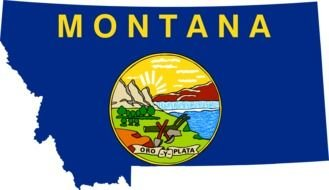 State Of Montana Flag as a graphic illustration