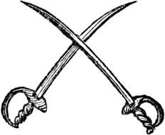Crossed Swords as a graphic illustration