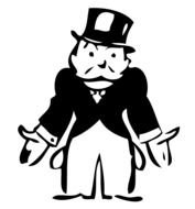 Mr Monopoly Man drawing