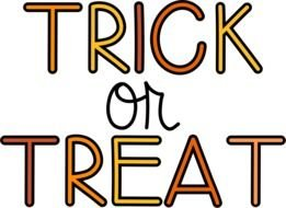 Trick Or Treat, hand writing