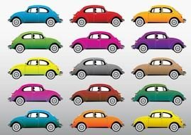 Beetle Cars drawing