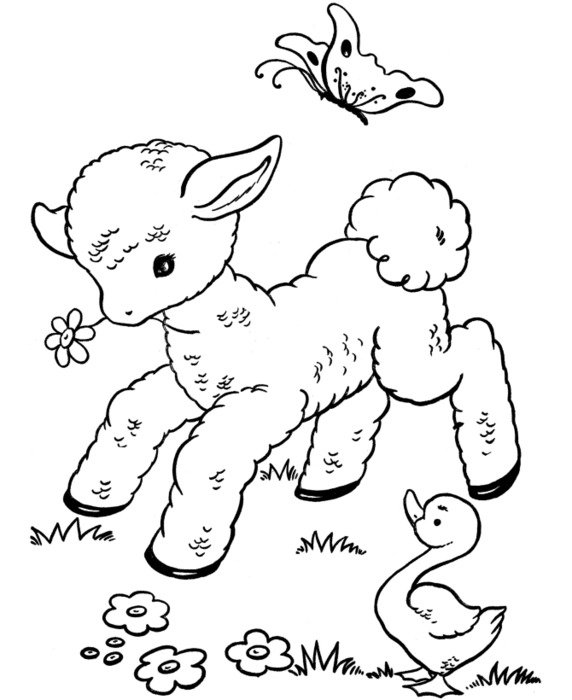 Free Printable Easter Coloring Pages drawing