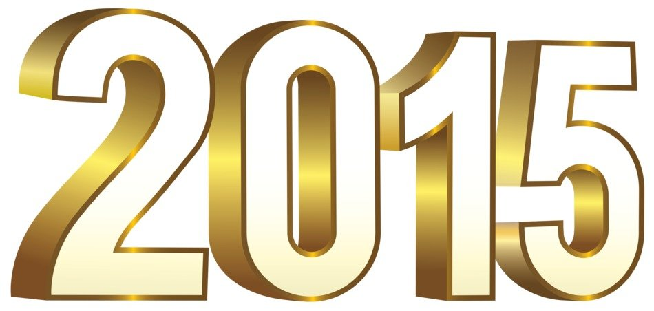2015 year gold clipart