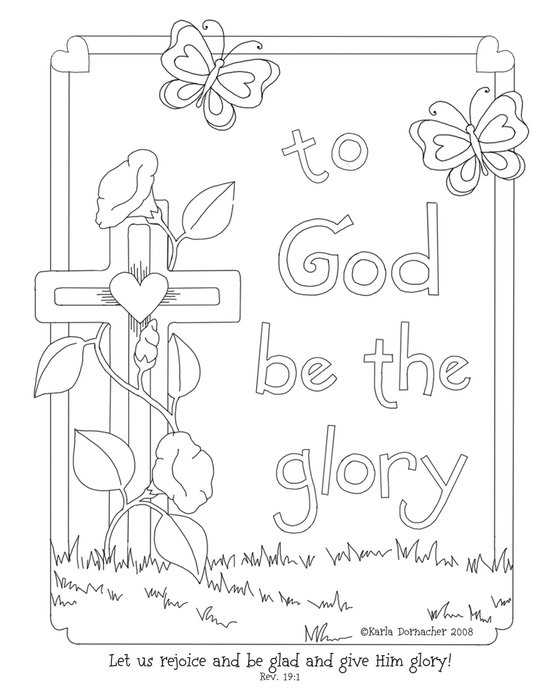 Sunday School Easter Coloring Pages drawing
