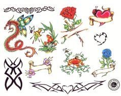 Colorful Drawing Tattoos clipart