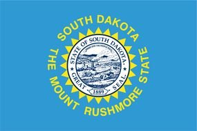flag of the state of south dakota as a picture for clipart