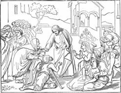 Bible Jesus Heals The Blind Man Coloring Pages free image