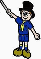 Cub Scout Cartoon as a graphic illustration