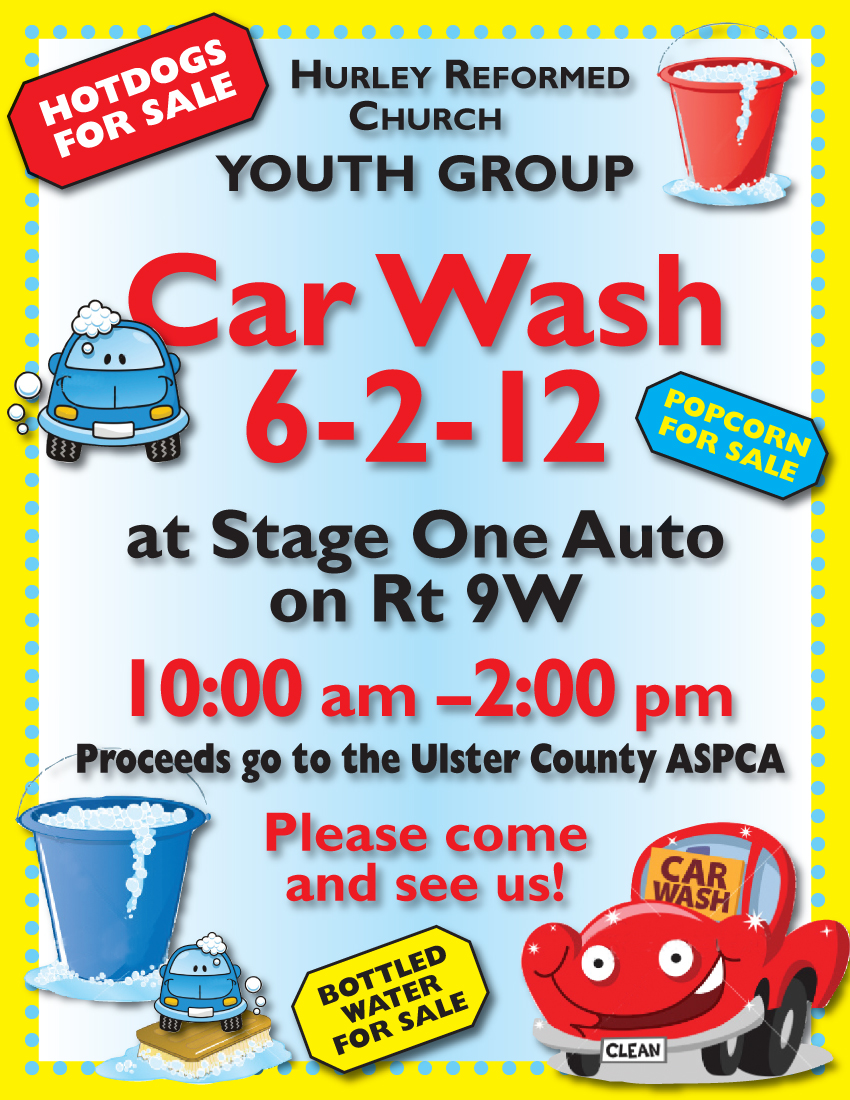 Youth Car Wash Flyer Free Image