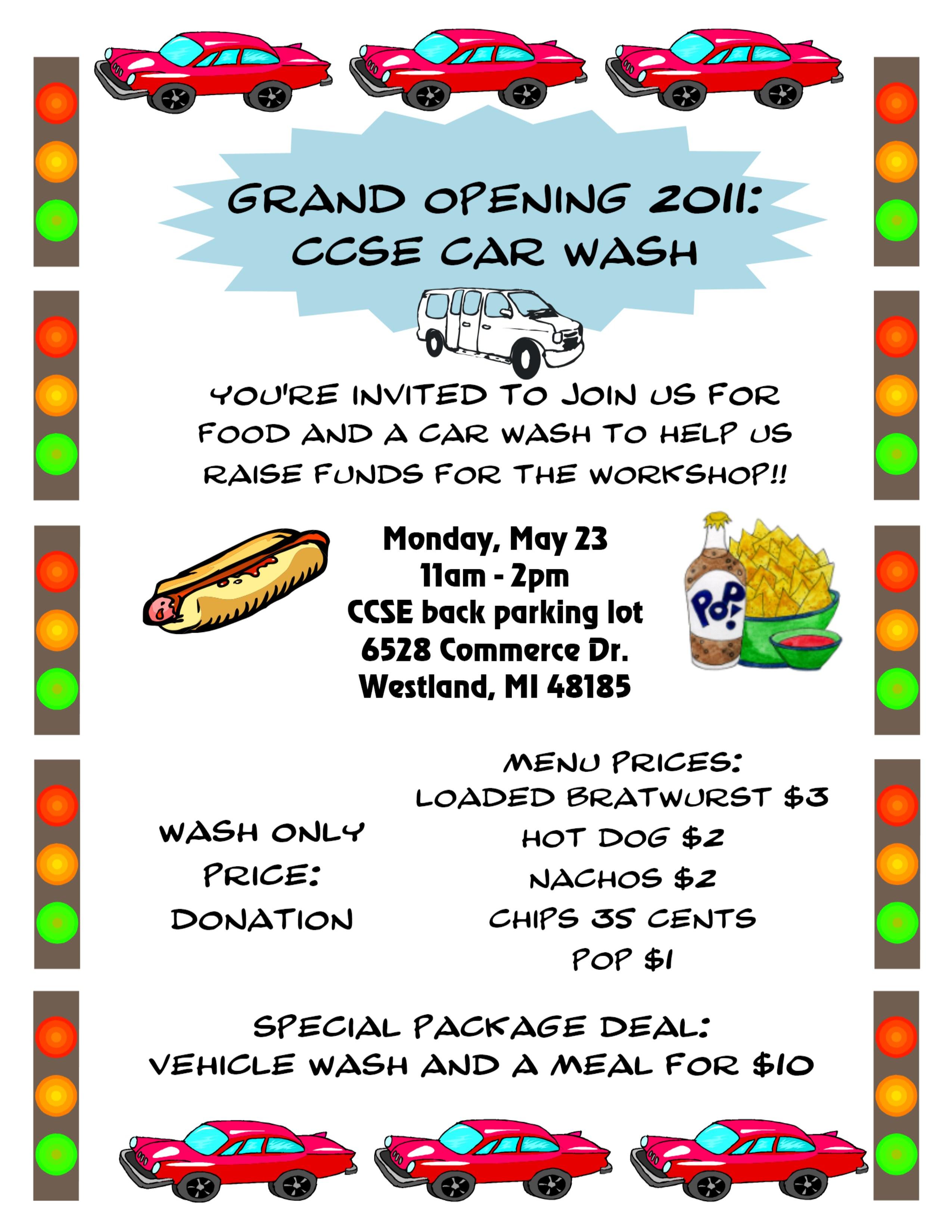 car wash fundraiser flyer n2