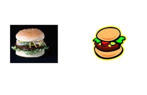 burger and its icon