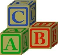 ABC Colorful Blocks Clip Art