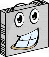 Smiling metal plate clipart