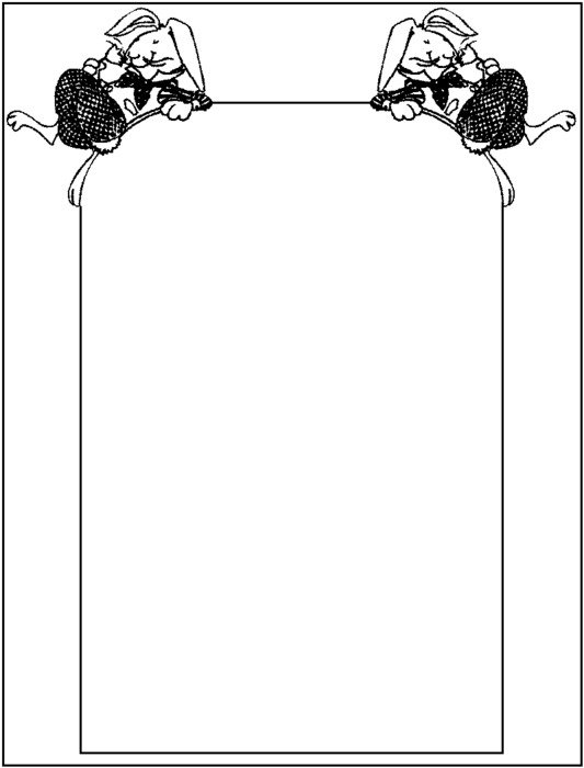 Easter Border Coloring Pages drawing