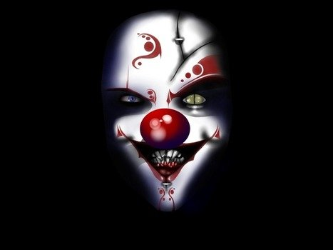 wallpaper with evil clown