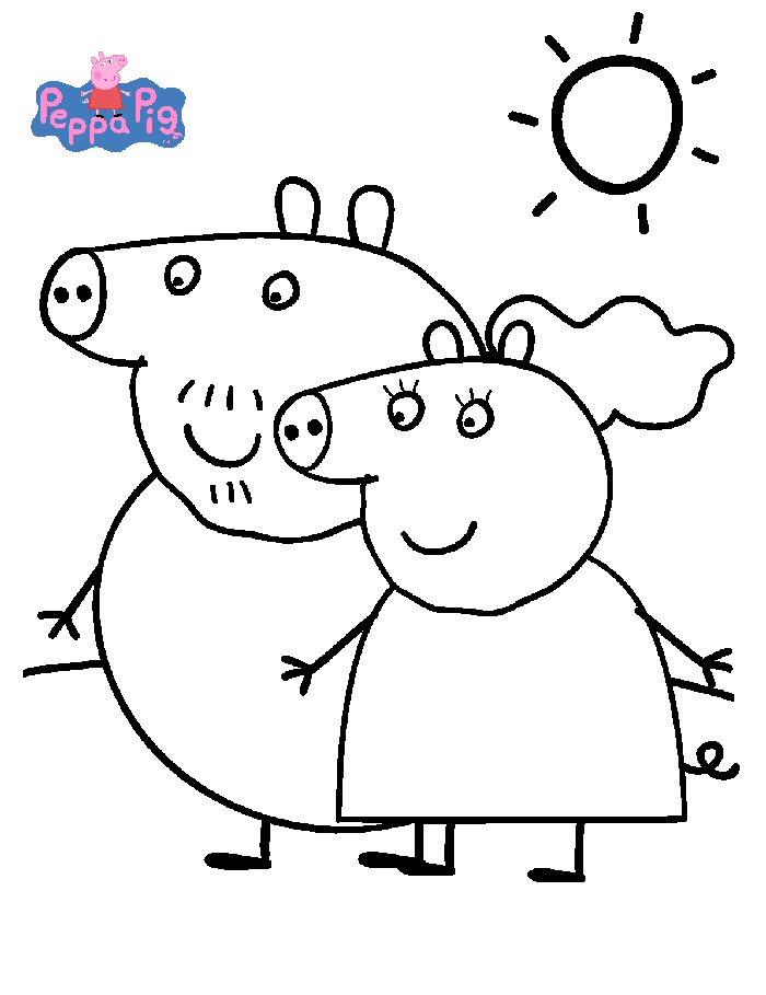 Disegni Di Peppa Pig Da Stampare E Colorare Free Image