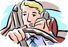 drawing of drawn the driver while driving