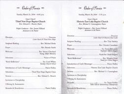 Church Anniversary Programs Templates drawing