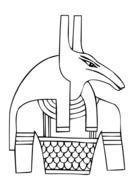 Ancient Egyptian god Seth as a graphic image