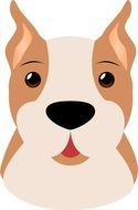 Boxer Dog Face Clip Art drawing