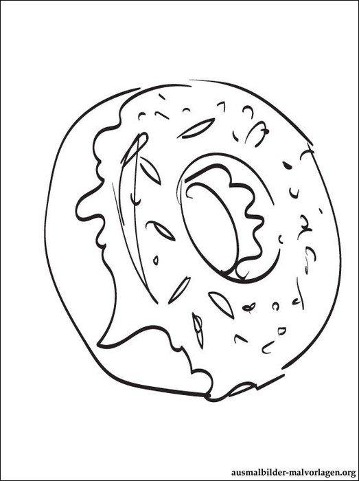ausmalbilder essen von krapfen zum ausdrucken f uumlr