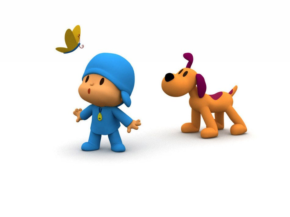 Pocoyo and butterfly