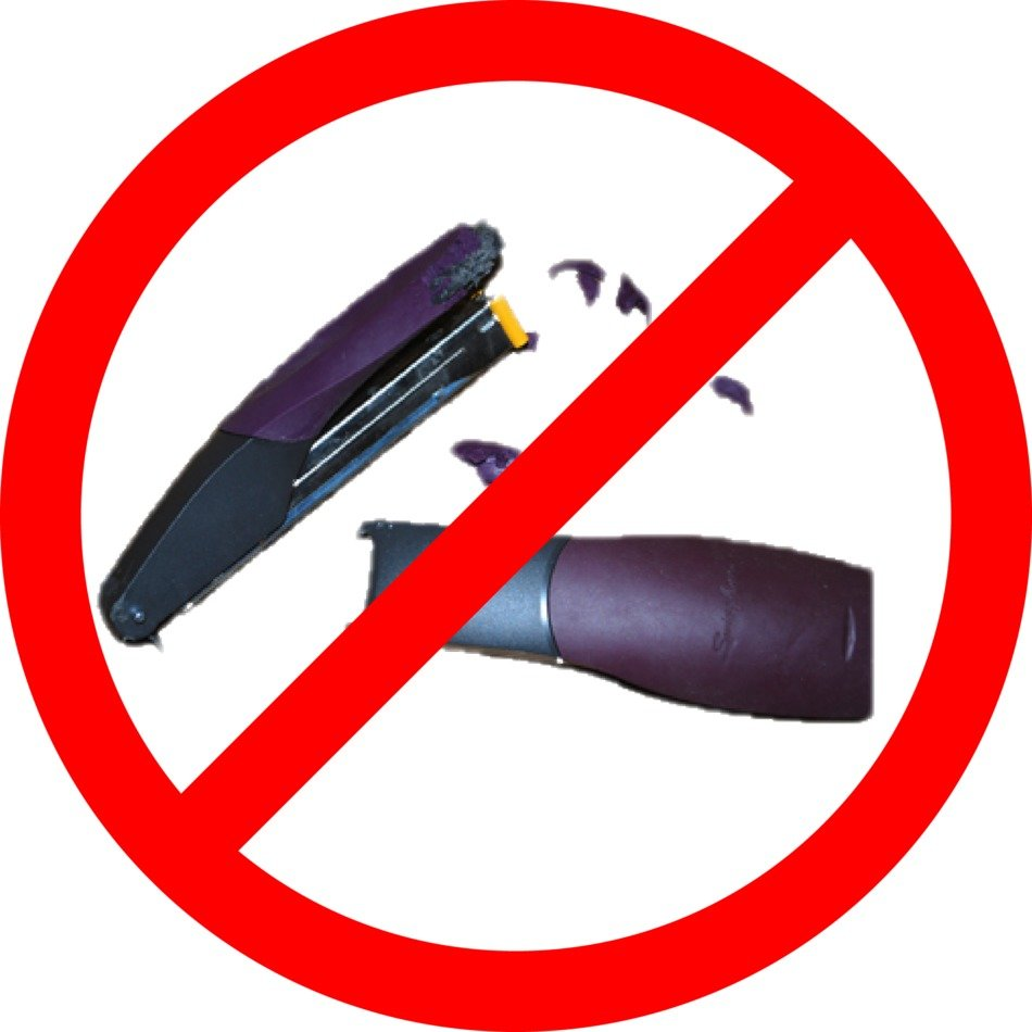 Clip art of no Stapler sign