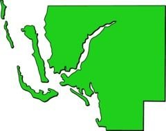 Florida Map Outline Clip Art drawing