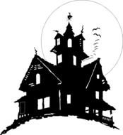 Haunted House Clip Art drawing