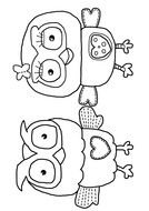 Owls Coloring Page drawing