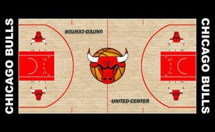 Chicago Bulls Basketball Court drawing