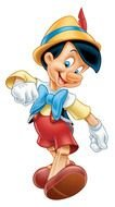 Disney Pinocchio as a graphic illustration