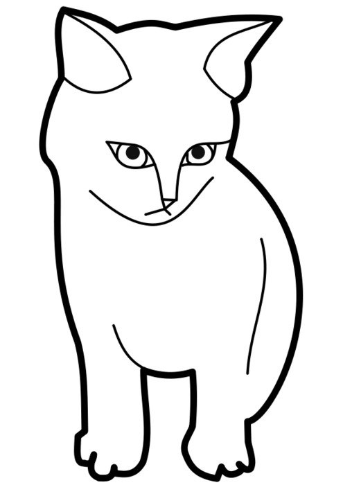 Cat Coloring Page drawing