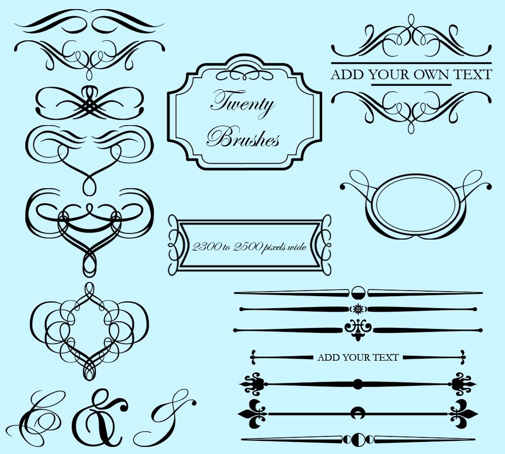 Free Photoshop Frame Brushes free image