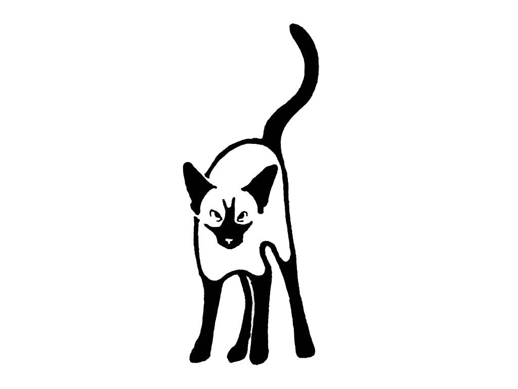 Vector Art - Cat line designs-set 3. Clipart Drawing gg99849221 - GoGraph