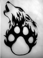 Black Panther Paw Prints drawing