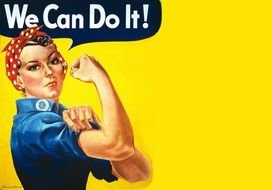 Clip art of We Can Do It women