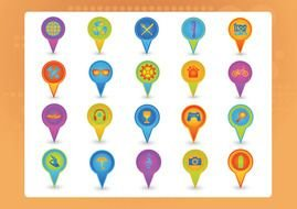 Map Icons Clip Art drawing