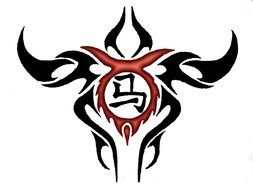 Taurus sign for tattoo