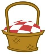 Cartoon Picnic Basket as a graphic illustration
