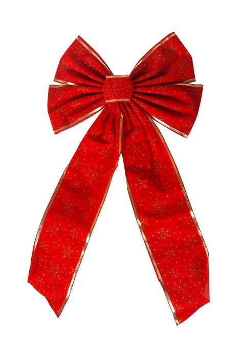 isolated red Christmas bow