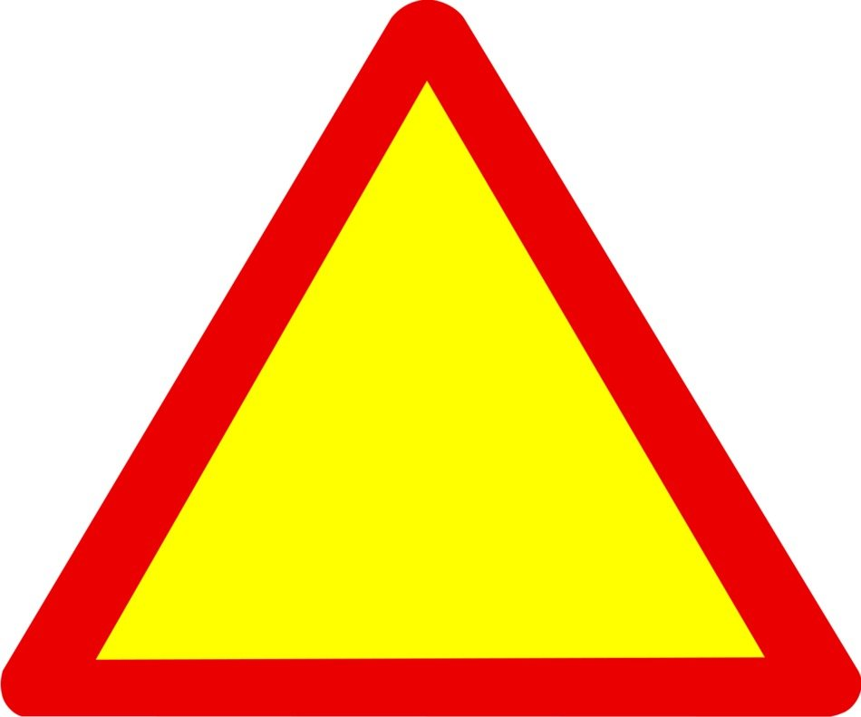 warning sign as picture for clipart