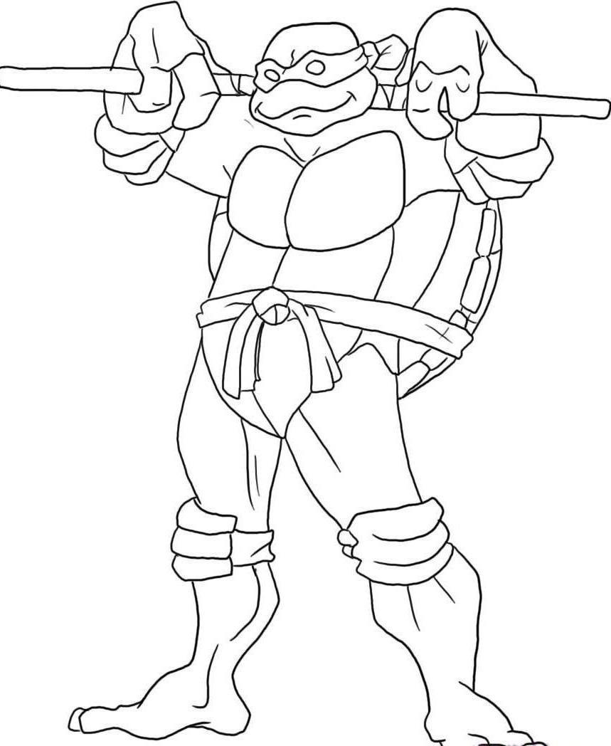 Dibujos De Las Tortugas Ninja Para Pintar Free Image