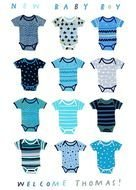 Colorful baby clothes clipart